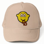 Pretzel eating buddy icon   caps_and_hats