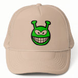 Green alien smile   caps_and_hats