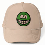 Colored smile green  caps_and_hats