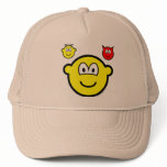 Angel and devil on shoulder buddy icon   caps_and_hats