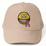 Breast cancer awareness smile Pink ribbon  caps_and_hats