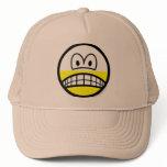 Half empty smile Pessimist  caps_and_hats