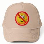 No sad emoticons   caps_and_hats