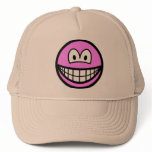 Colored smile pink  caps_and_hats
