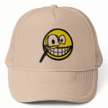 Magnifying glass smile Looking through  caps_and_hats