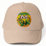 Camouflage emoticon   caps_and_hats
