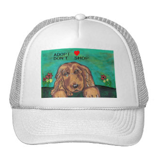 caps dog rescue hand painted hat