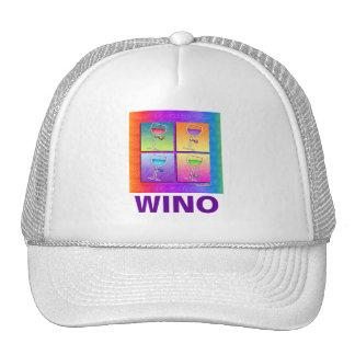 Caps, Hats - Pop Art Wine