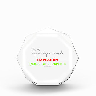 Capsaicin (A.K.A Chili Pepper) Chemical Molecule Award