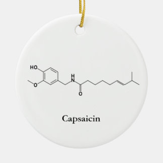 Capsaicin Molecule Chemistry Spicy Food Lovers Ceramic Ornament
