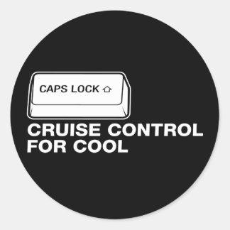 capslock - control de travesía para fresco pegatina redonda