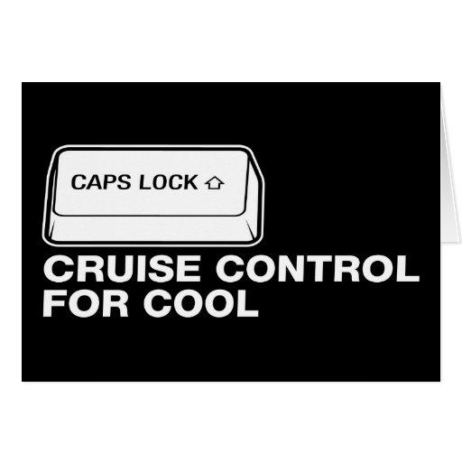 capslock - control de travesía para fresco tarjeta de felicitación