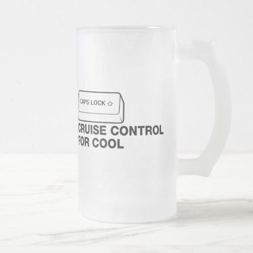 capslock - control de travesía para fresco taza cristal mate