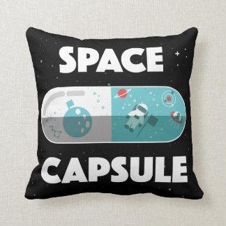 Cápsula de espacio cojín decorativo