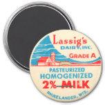 Cápsula de leche del vintage imán