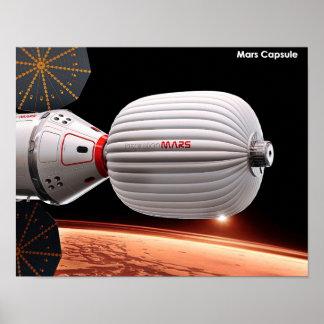Cápsula de Marte Póster