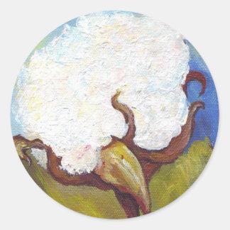 Cápsula del algodón del ms pegatina redonda
