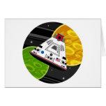Cápsula del transbordador espacial del dibujo anim