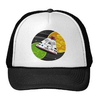 Cápsula del transbordador espacial del dibujo gorras