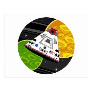 Cápsula del transbordador espacial del dibujo tarjetas postales