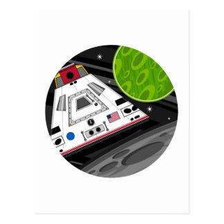 Cápsula del transbordador espacial del dibujo postales