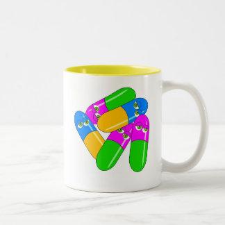 Cápsulas de la tableta taza de dos tonos
