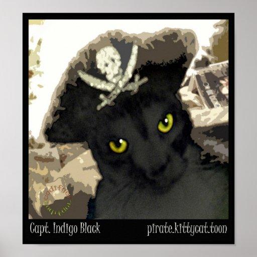 Capt. Indigo Black Poster