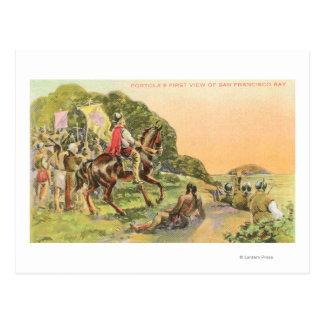 Capt. Portola's First View Postcard
