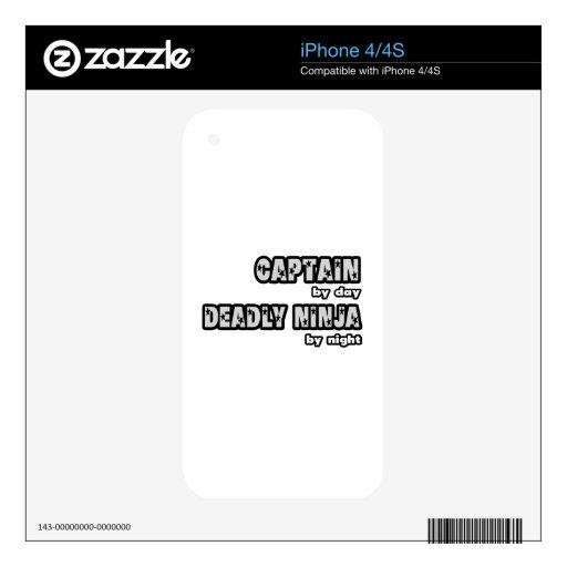 Captain a By Day… muerto Ninja por noche Skin Para El iPhone 4S