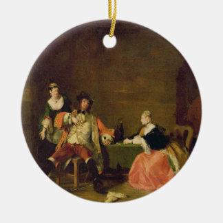 Captain a Macheath Upbraided de Polly y de Lucy en Adorno Redondo De Cerámica