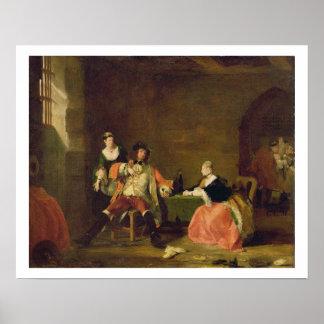 Captain a Macheath Upbraided de Polly y de Lucy en Poster