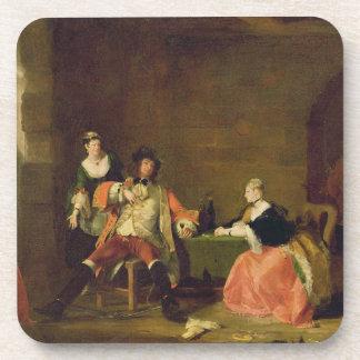 Captain a Macheath Upbraided de Polly y de Lucy en Posavasos