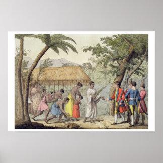 Captain a Samuel Wallis (1728-1830) que son b reci Póster