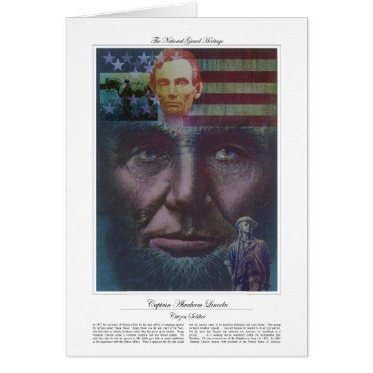 Captain Abraham Lincoln Citizen Soldier Card