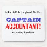 Captain Accountant Accounting Superhero Mouse Pad