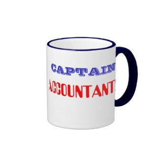 Captain Accountant Retro Super Hero CFO CPA Ringer Coffee Mug