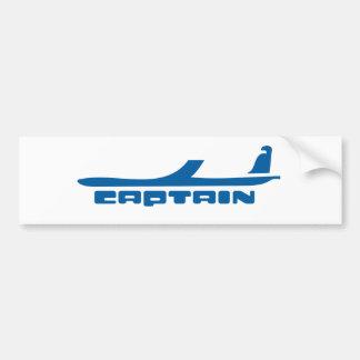 captain airplane design bumper sticker