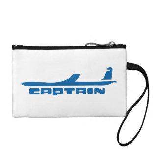 captain airplane design coin wallet