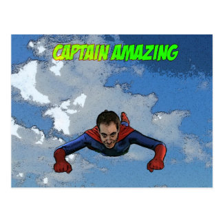 Captain Amazing Flying- Front Postcard