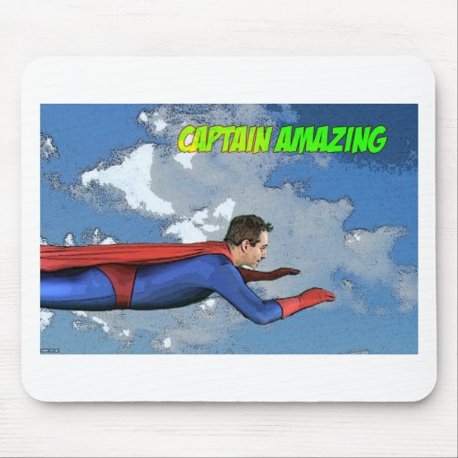Captain Amazing Flying- Side Mouse Pad