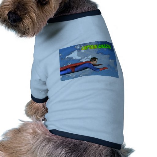 Captain Amazing Flying- Side Pet T-shirt