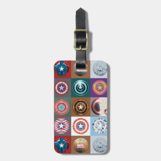 Captain America 75th Anniversary Shield Patchwork Luggage Tag