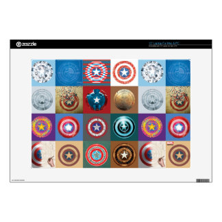 """Captain America 75th Anniversary Shield Patchwork Skins For 15"""" Laptops"""