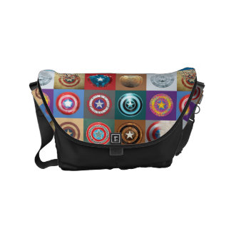 Captain America 75th Anniversary Shield Patchwork Small Messenger Bag