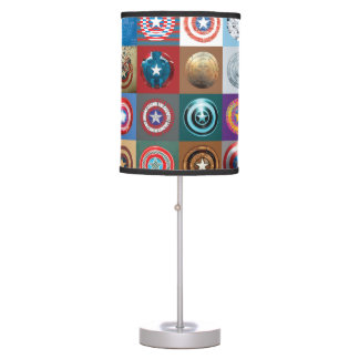 Captain America 75th Anniversary Shield Patchwork Table Lamp