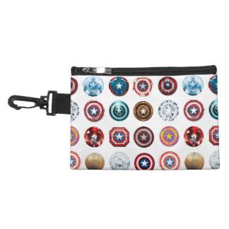 Captain America 75th Anniversary Shield Pattern Accessory Bag
