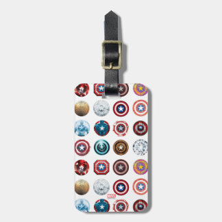Captain America 75th Anniversary Shield Pattern Bag Tag