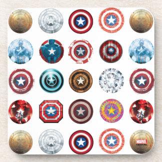 Captain America 75th Anniversary Shield Pattern Coaster