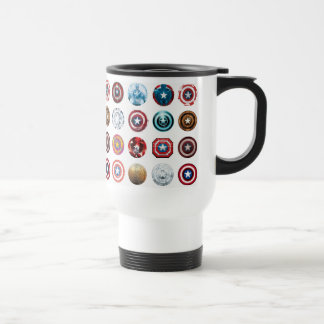 Captain America 75th Anniversary Shield Pattern Travel Mug