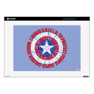 Captain America Alias Typography Shield Decals For Laptops